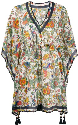 Tory Burch Tassel-Detail Floral Tunic
