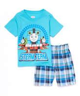 Children's Apparel Network Thomas & Friends 'Steam Team' Tee & Plaid Shorts - Infant