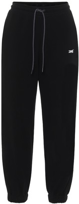 Reebok x Victoria Beckham Relaxed cotton-jersey trackpants