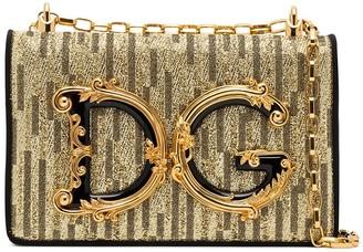 Dolce & Gabbana Girls logo-embellished shoulder bag