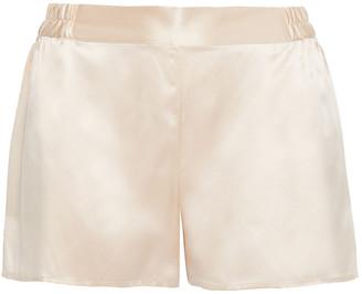 Ginia Silk-satin Pajama Shorts