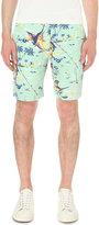 Polo Ralph Lauren Straight-fit Print Linen-blend Shorts