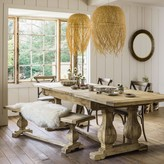 Graham and Green Reclaimed Elm Extending Dining Table And Bench