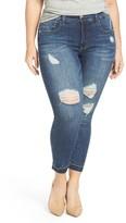 Melissa McCarthy Plus Size Women's Release Hem Pencil Leg Jeans