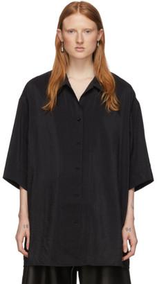 Lemaire Black Silk Maxi Shirt