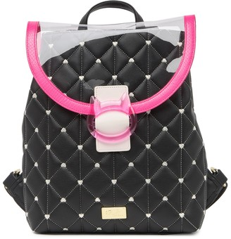 Betsey Johnson Luv Betsey By Nicole Diamond Heart Quilted Backpack