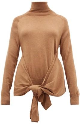 J.W.Anderson Waist-tie Roll-neck Wool Sweater - Beige