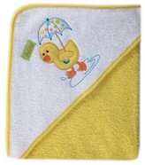 Luvable Friends Umbrella Animal Hooded Towel - Woven Terry, Yellow