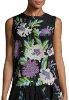 Diane von Furstenberg Sleeveless Floral Silk Top