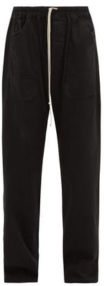 Rick Owens Drawstring Cotton Trousers - Mens - Black