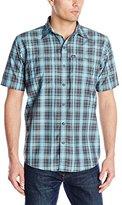 G.H. Bass Men's Short Sleeve Fancy Explorer Medium Plaid Shirt