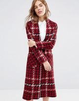 Helene Berman Duster Coat in Red Knit