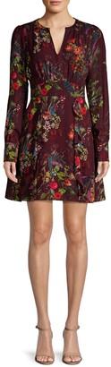 Parker Brooke Ruffled Floral Dress