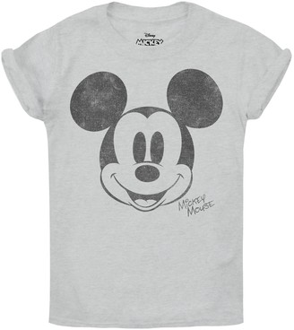 Disney Girl's Mickey Mouse Metallic Face T-Shirt