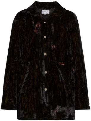 Collina Strada Shelter tie-dyed velvet jacket