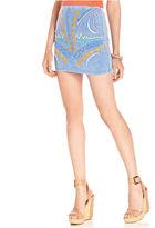 Do&Be Juniors Skirt, Embroidered Mini