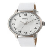 Simplify Unisex White Strap Watch-Sim4201