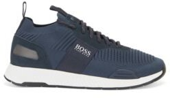 HUGO BOSS Sock Trainers With Knitted Repreve Uppers - Dark Blue