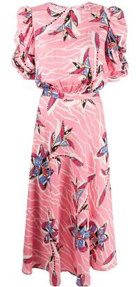 Stella Jean Floral Print Midi Dress