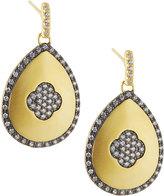 Freida Rothman Pavé Clover Teardrop Earrings