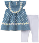 Kids Headquarters 2-Pc. Dot-Print Tunic & Leggings Set, Little Girls