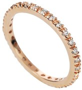 Journee Collection 1/4 CT. T.W. Round-cut Cubic Zirconia Eternity Prong Set Band in Sterling Silver - Gold