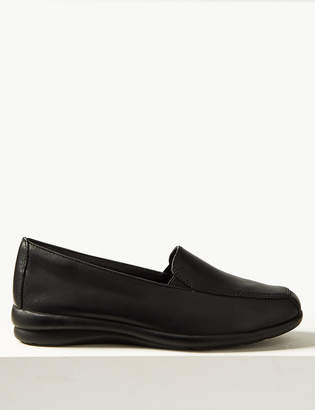 M&S CollectionMarks and Spencer Leather Wedge Heel Loafers