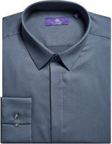 Next Charcoal Shirt With Concealed Placket