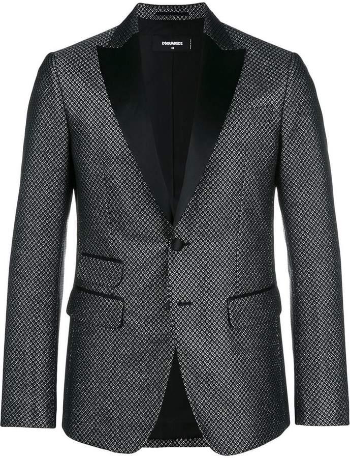 DSQUARED2 patterned tuxedo jacket