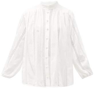 Zimmermann Suraya Lace-insert Cotton Blouse - Womens - White