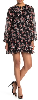 Sugar Lips Garden Grove Floral Keyhole Shift Dress