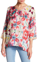 Johnny Was Printed Silk Blouse