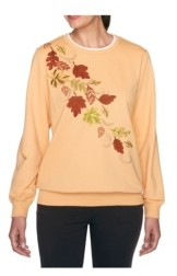 Alfred Dunner Women's Misses Fall Leaves Top