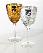 Artland Leopard Wine Glasses, Set of 4