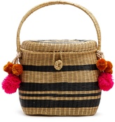 SOPHIE ANDERSON Cinto striped wicker basket bag