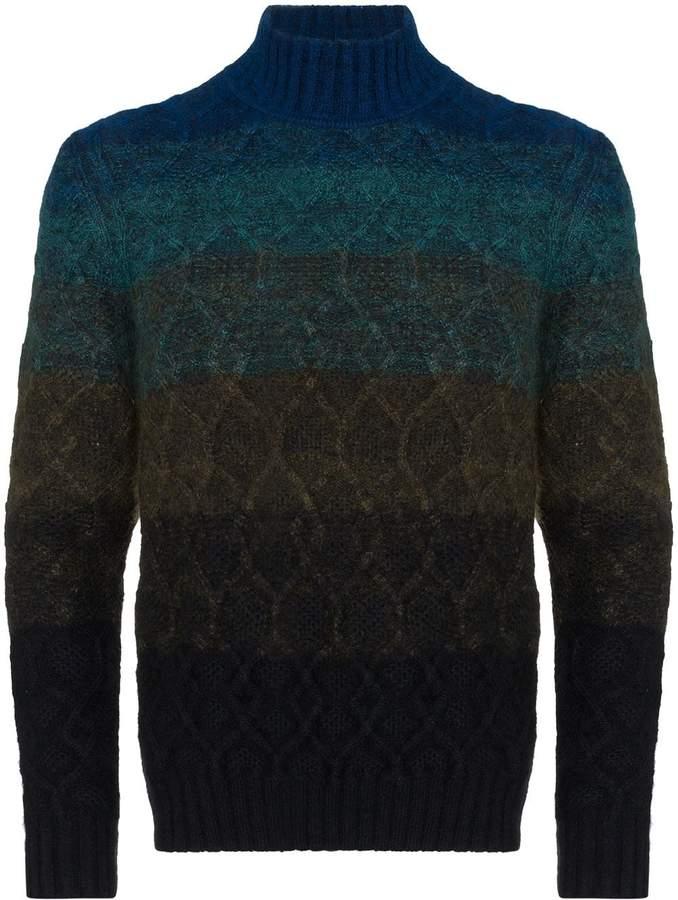 5b34b72f48a gradient knit roll neck sweater