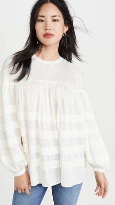 Club Monaco Layered Tuck Top
