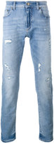 Dolce & Gabbana distressed jeans - men - Cotton/Calf Leather/Spandex/Elastane/zamac - 54