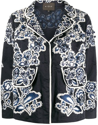 Biyan Embroidered Fitted Jacket