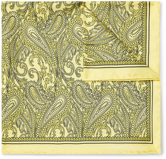 Turnbull & Asser Printed Silk-twill Pocket Square - Yellow