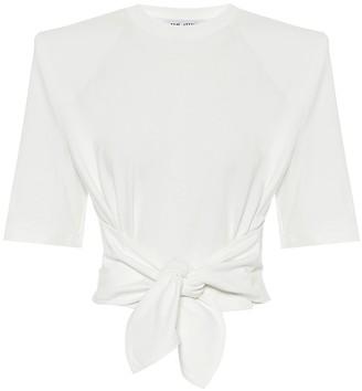 ATTICO Cropped cotton T-shirt