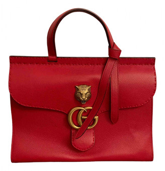 Gucci Animalier Red Leather Handbags
