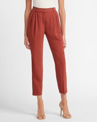 Express High Waisted Pleated Front Ankle Pant