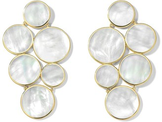 Ippolita 18kt yellow gold Polished Rock Candy 6-stone circle cluster mother-of-pearl earrings