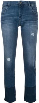 Emporio Armani Two Tone Skinny Jeans