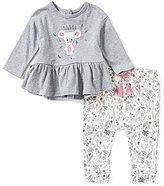 Jessica Simpson Baby Girls Newborn-9 Months Mouse Princess Tunic & Printed Leggings Set