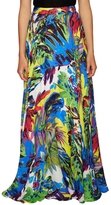 Milly Floral Silk Print Gathered Maxi Skirt