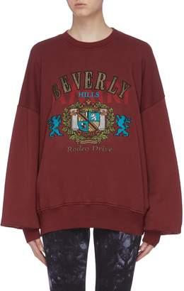 Amiri 'Beverly Hills' graphic patch sweatshirt