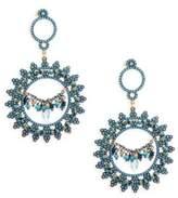 Azaara Blue Topaz, Blue Quartz and Sterling Silver Drop Earrings
