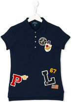 Ralph Lauren multi patch polo shirt